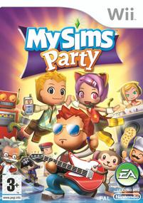 MySims Party Wii box art packshot