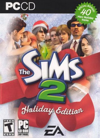 The Sims 2: Holiday Edition (2005) box art packshot US