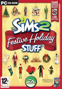 The Sims 2: Festive Holiday Stuff box art packshot