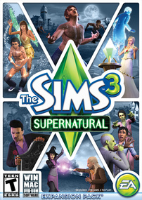 The Sims 3: Supernatural box art packshot