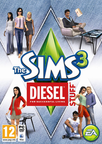 The Sims 3: Diesel Stuff box art packshot