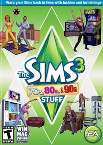 The Sims 3: 70s, 80s & 90s Stuff box art packshot US