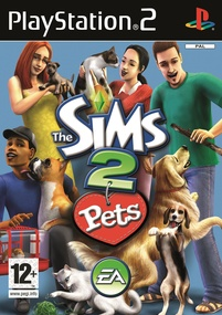 The Sims 2 Pets PS2 Box Art Packshot