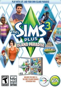The Sims 3 Plus Island Paradise packshot box art
