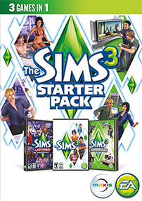 The Sims 3 Starter Pack packshot box art