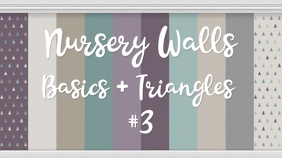 Nursery Walls Set #3 - Basics + Triangles
