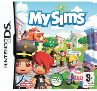 MySims DS box art packshot