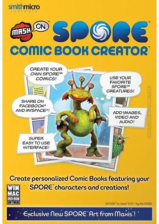 MashOn Spore Comic Book Creator box art packshot