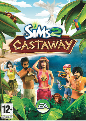 The Sims 2 Castaway for mobile phones box art packshot