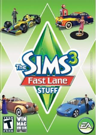 The Sims 3: Fast Lane Stuff box art packshot US
