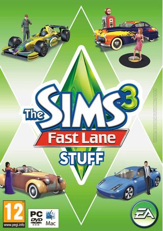 The Sims 3: Fast Lane Stuff box art packshot