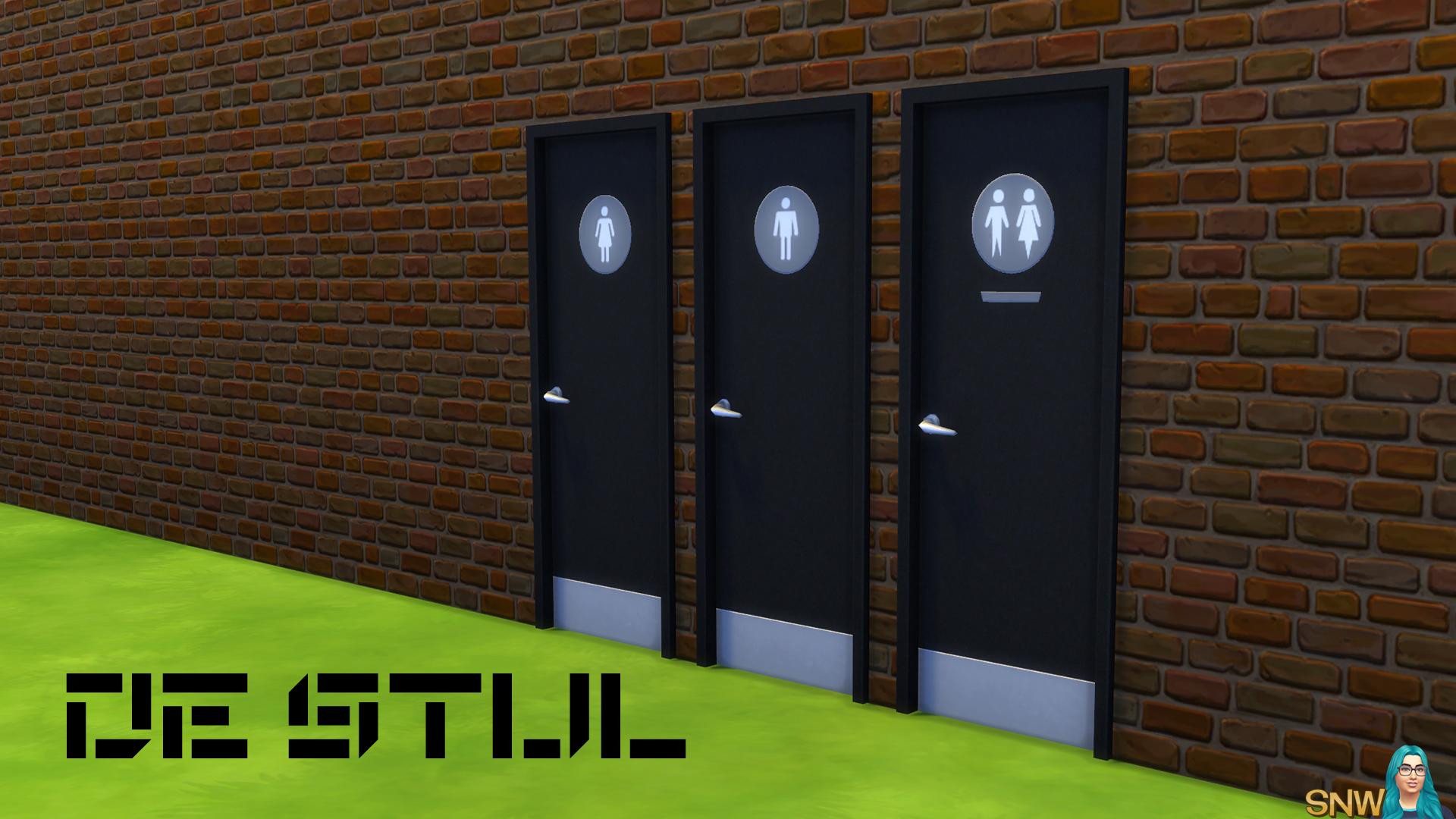 De stijl toilet doors snw games