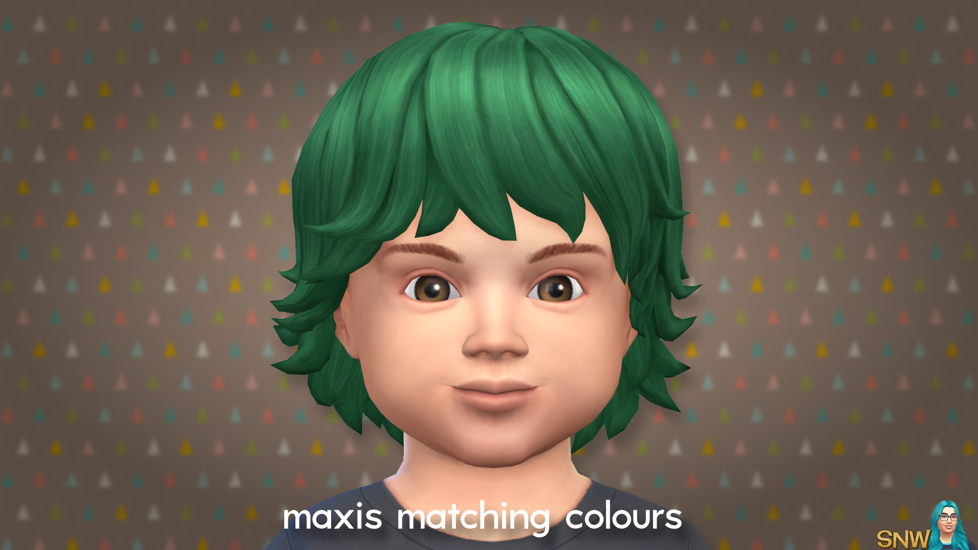 Maxis Matching Medium Wavy Hairdo For Toddlers Snw Games