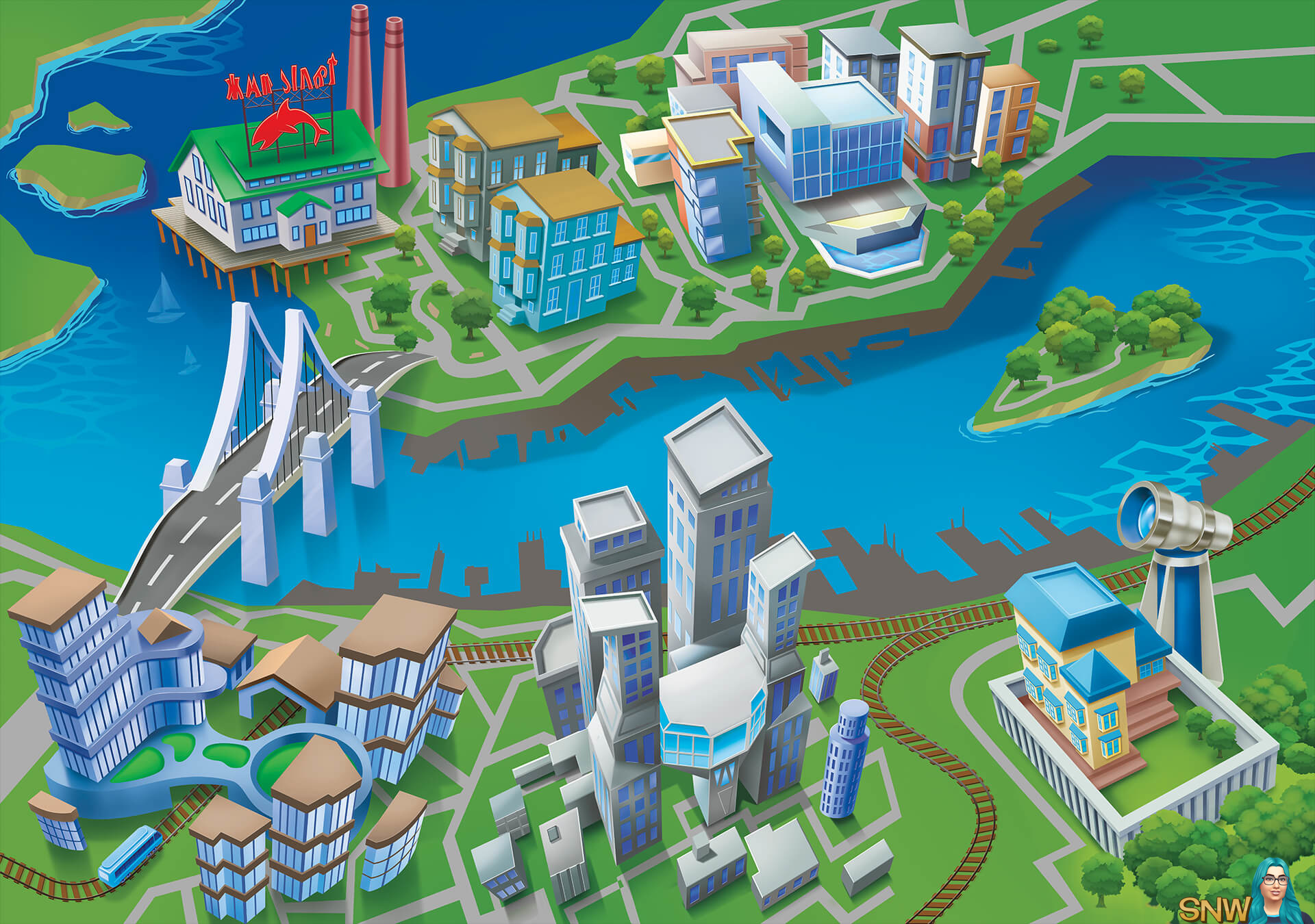 The Sims 4: City Living world overview